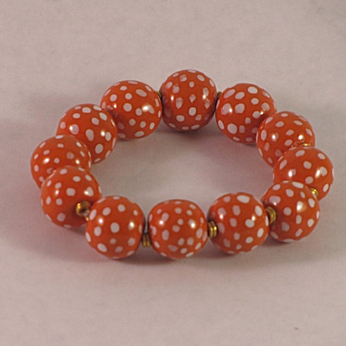 Glazed Beaded Bracelet