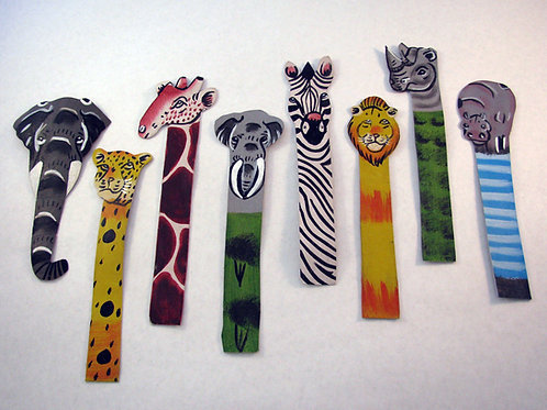 Leather Hand Painted Bookmark