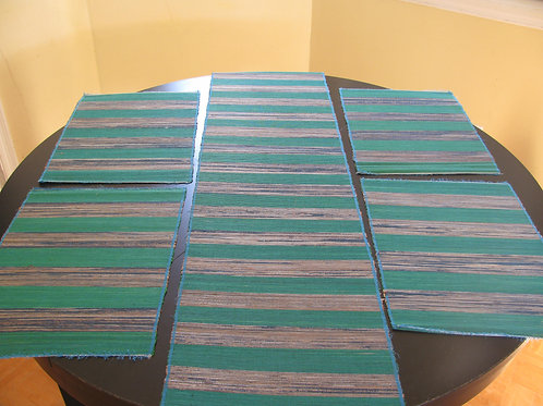 Handmade Raffia Grass & Banana Leaf Table Runner & Placemats