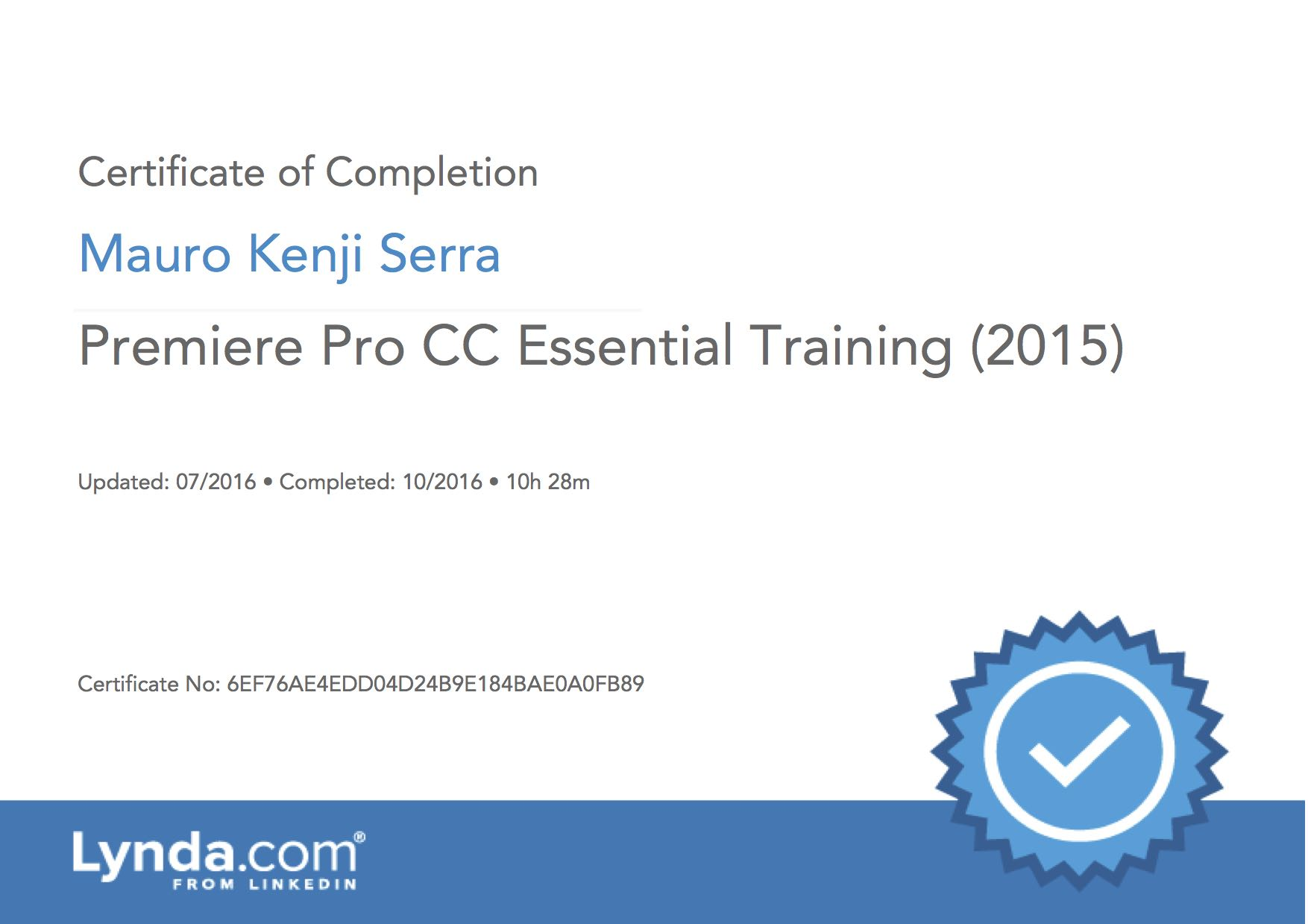 Premiere Pro CC Essential Training