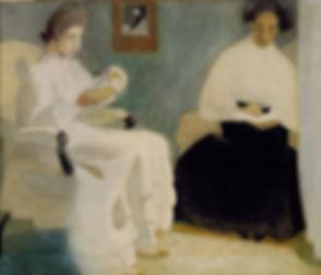 Helene_Schjerfbeck_-_Girls_Reading_(1907