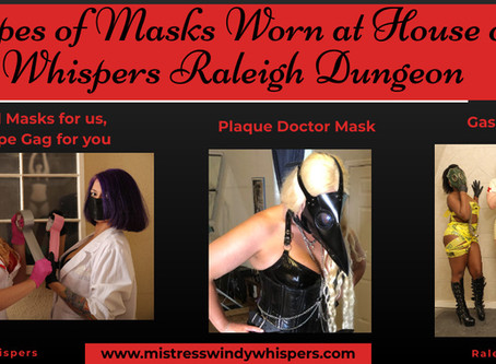3 Types of Masks Worn at House of Whispers Raleigh Dungeon