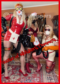 medical restrained patient latex nurse fetish roleplay