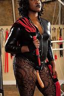 Domina Diabla with a femme cock dildo