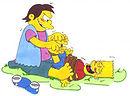 tickle bondage cartoon bart simpson