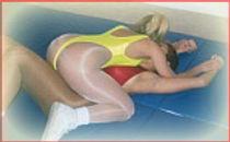 wrestling breast choke
