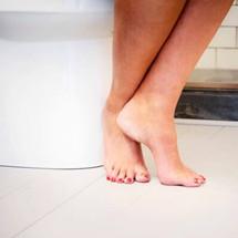 feet fetish besides toilet