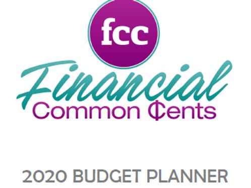 2020 FCC Budget Planner (Printable)