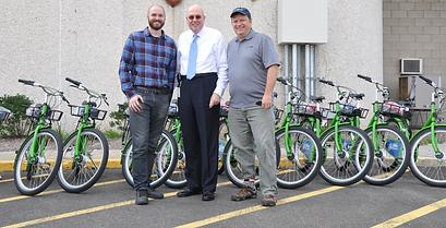 NHCAT showing the Bike New Haven bikes