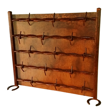 Barb Wire Fireplace Screen