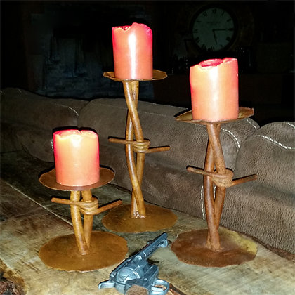 Barb Wire Candle Holders