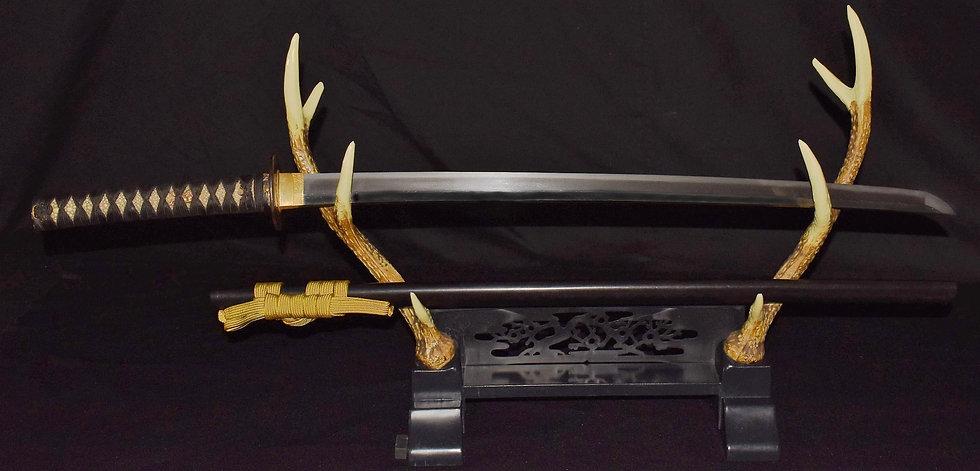 №49特別保存刀剣鑑定書 刀 相模守藤原英次 以南蛮鉄作之 Fujiwara Hidetsugu