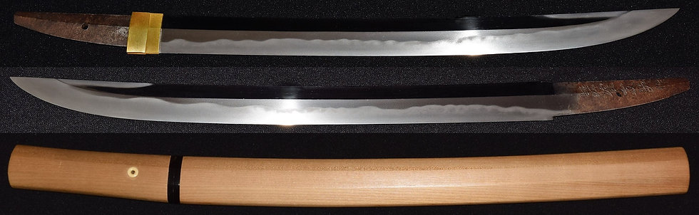 №17特別保存刀剣鑑定書 脇指 銘 舞鶴友英作 wakizashi signature MAIDUTU TOMOHIDE