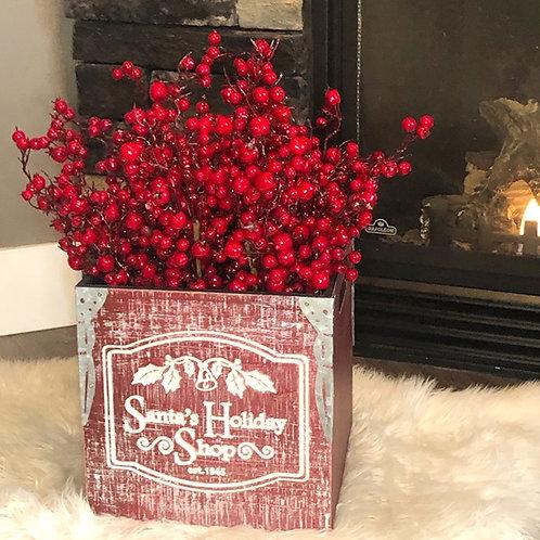 Small Santa's Holiday Wooden Box