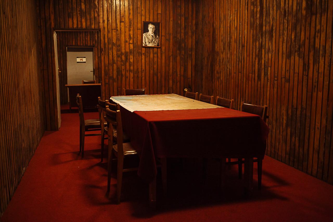 Inside Enver Hoxha's bunker.