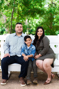 Family photo in Old Poway park