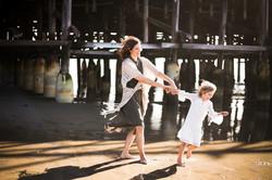 Family photo shoot at Pacific beach