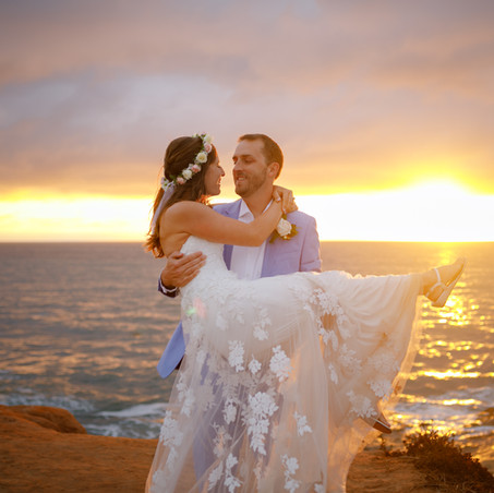 Wedding at Sunset cliffs