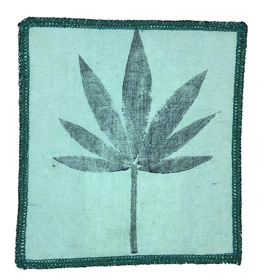 Hemp Cannabis Leaf Iron-on Patch