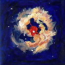 Painting of a Star based on hubble photos