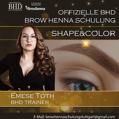 BROW HENNA SHAPE & COLOR