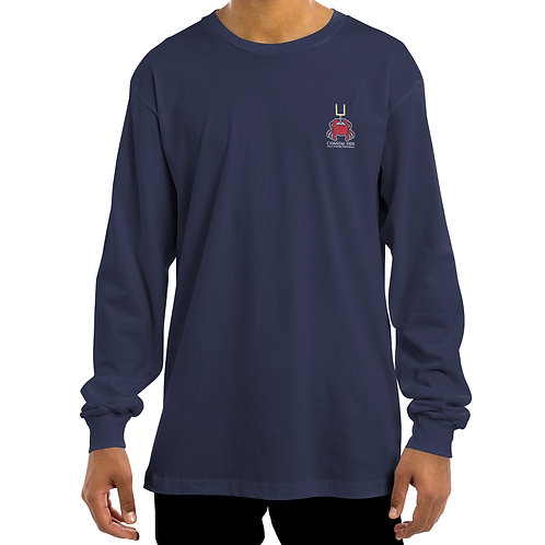 Men's Long-Sleeve T-Shirt – Football/Crab Graphic