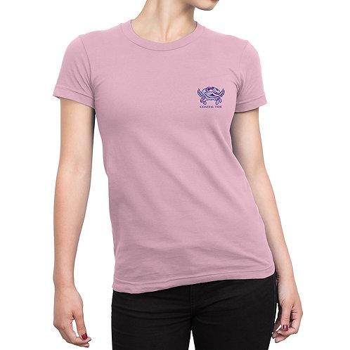 Women's T-Shirt – Boho Crab Print – Pink