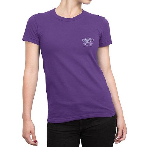 Women's T-Shirt – Limited-Edition Boho Crab Print – Purple