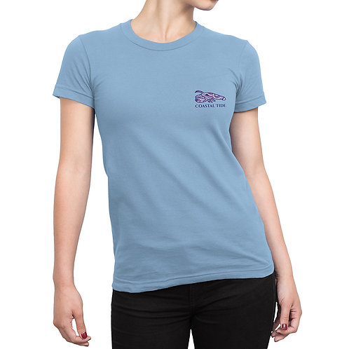 Women's T-Shirt – Boho Lobster Print – Light Blue