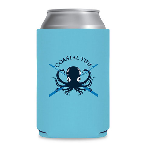 Koozie – Blue Octopus Print