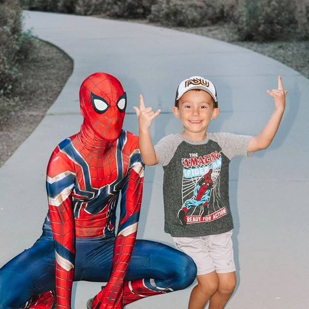 Fun times with our freindly neighborhood super hero!