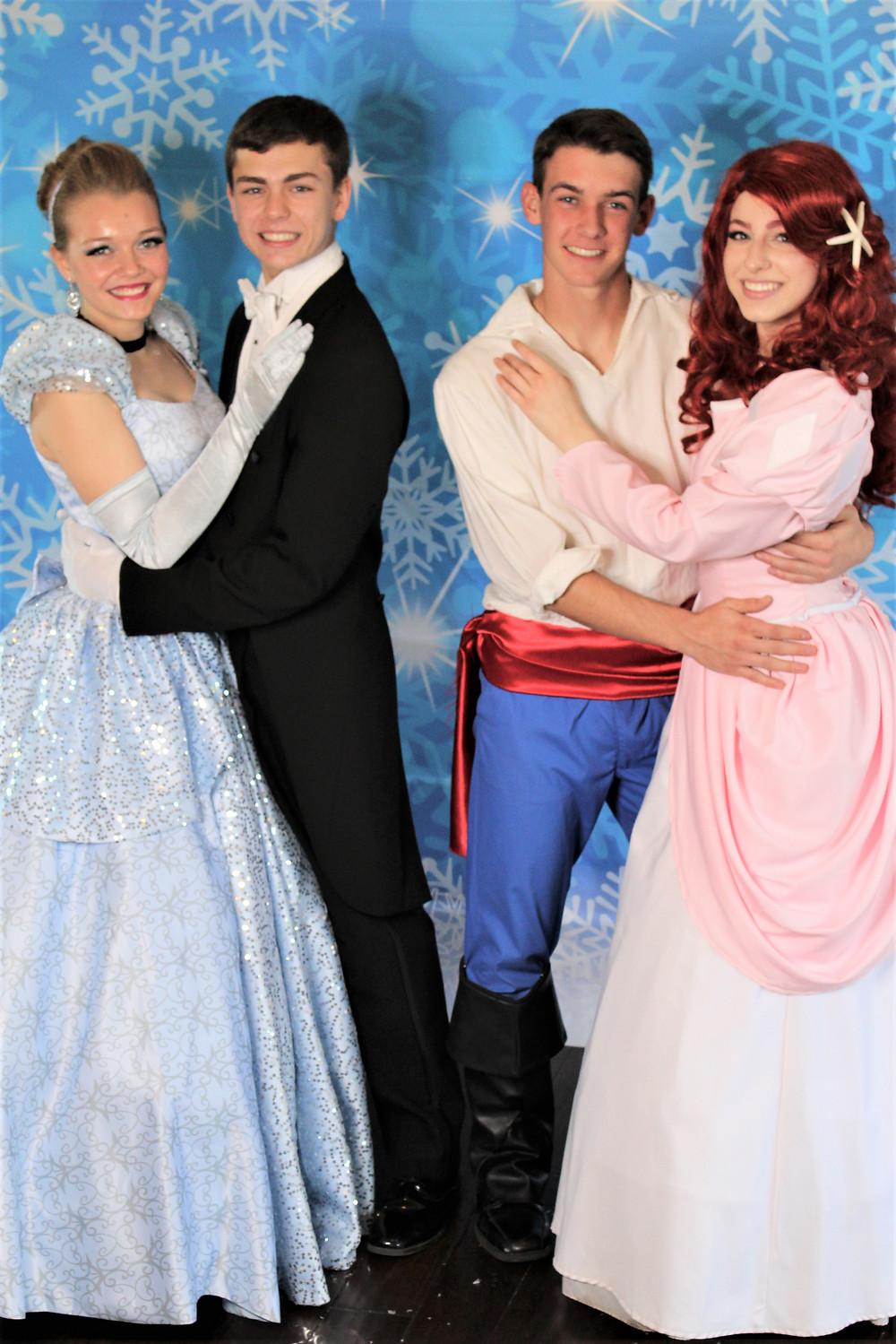 Cinderella, Prince Charming, Prince Eric, Ariel, Mermaid Princes