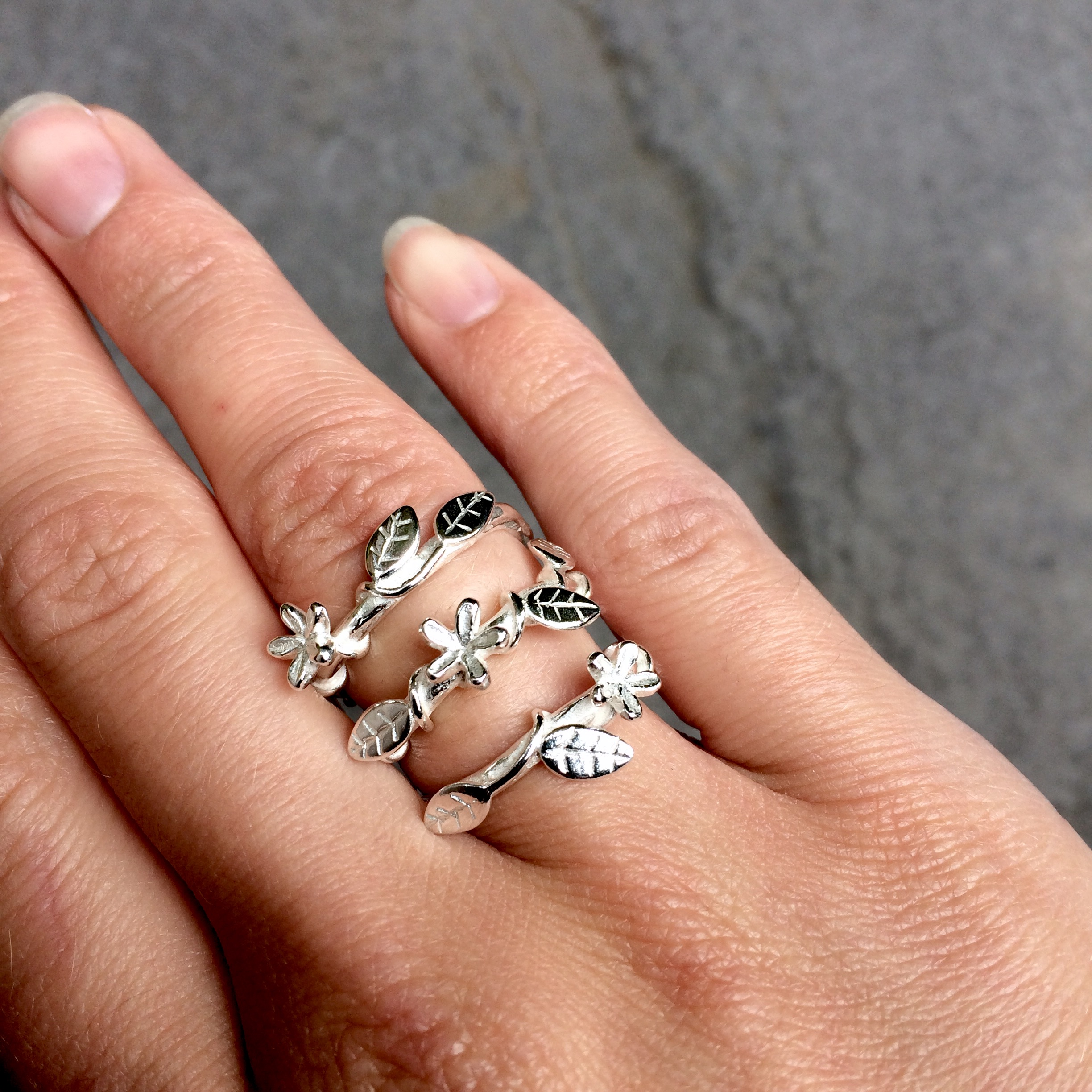 Flower and Leaf Ring