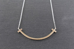 9ct Yellow Gold and Silver Smile