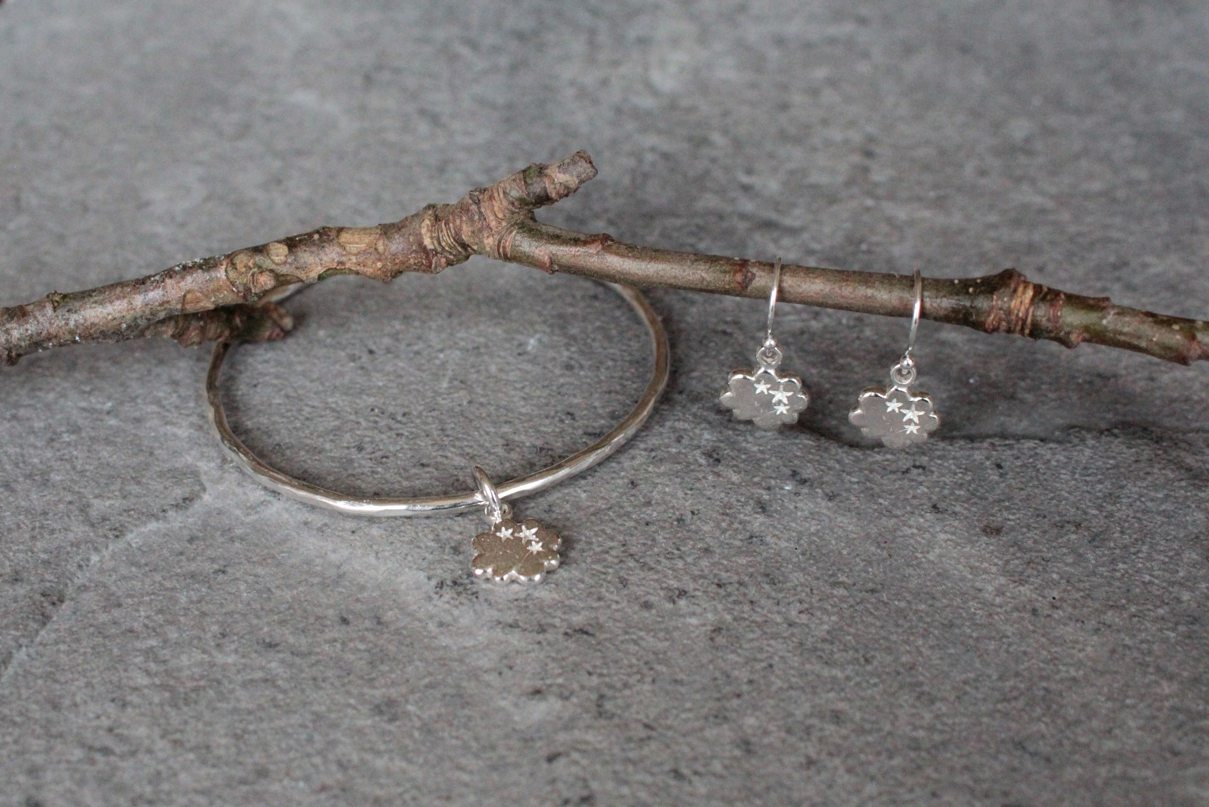 Thought Cloud Bangle & Earrings