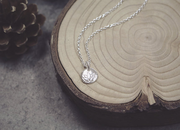 Lotus Flower Pebble Necklace