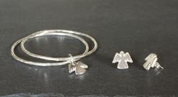 Angel Charm and Earrings