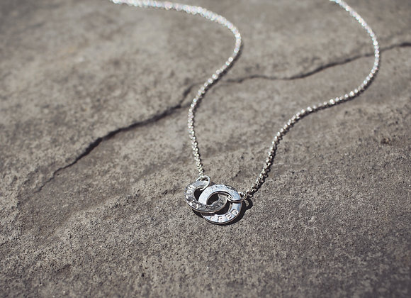 Linked Little Disc Necklace