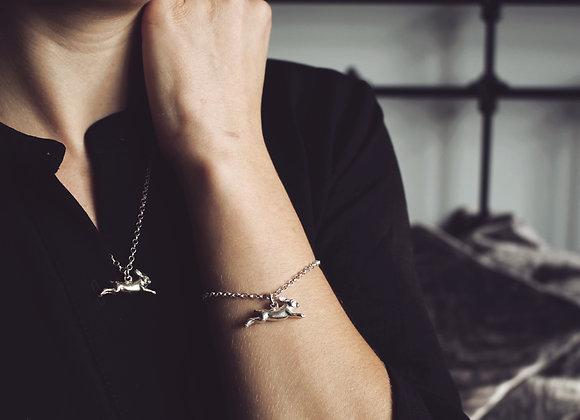 Running Hare Chain Bracelet