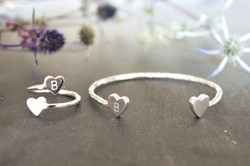Heart Cuff and Ring