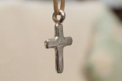 Rustic Chunky Cross Pendant