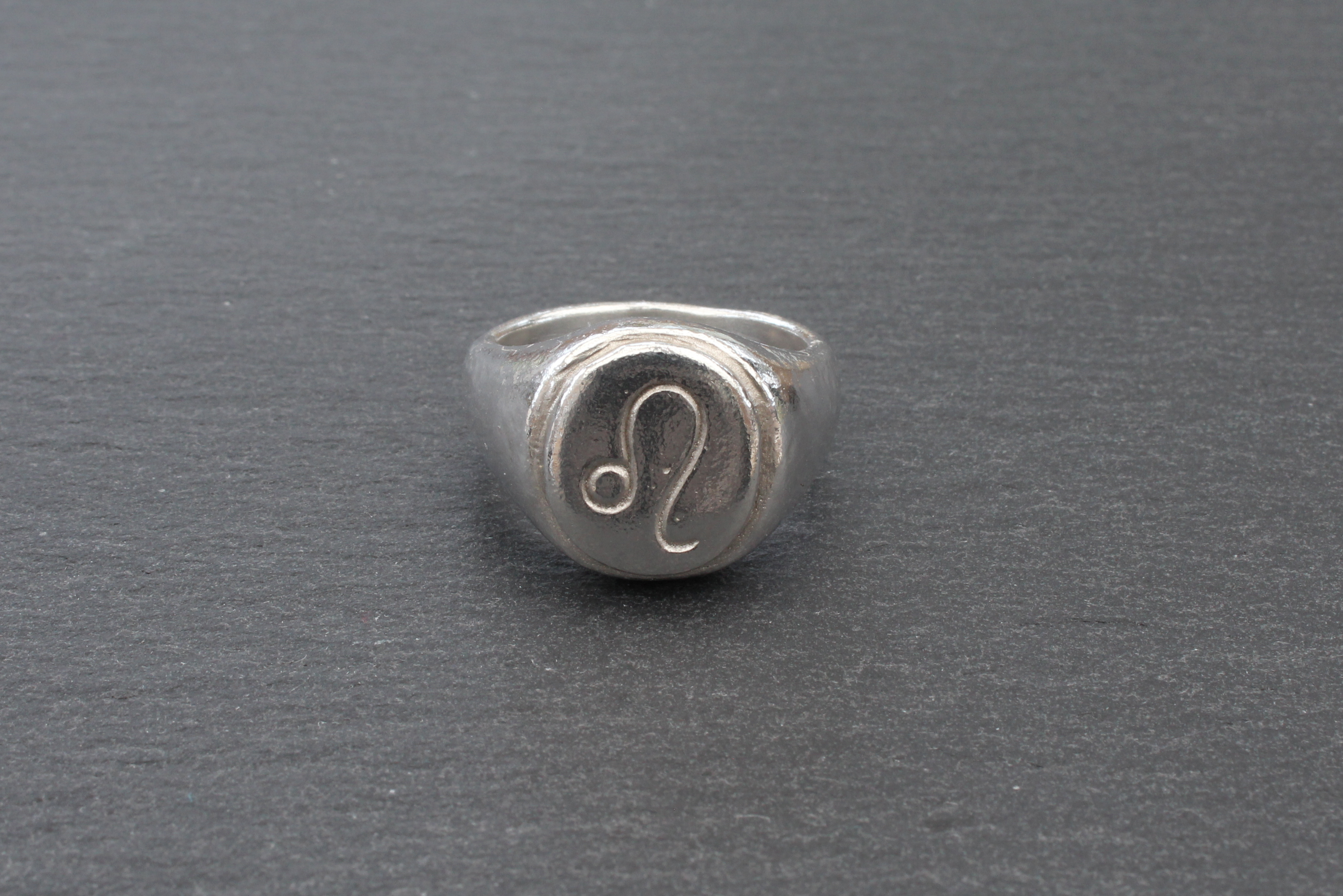 Signet Ring with a Leo Zodiac Sign