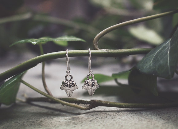 Mini Ivy Leaf Drop Earrings