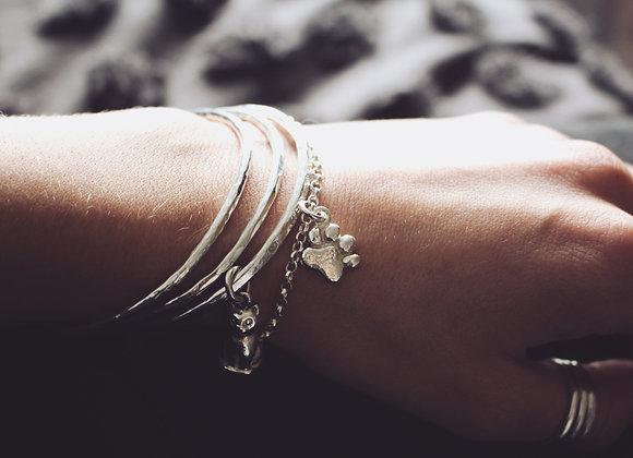 Paw Print Chain Bracelet