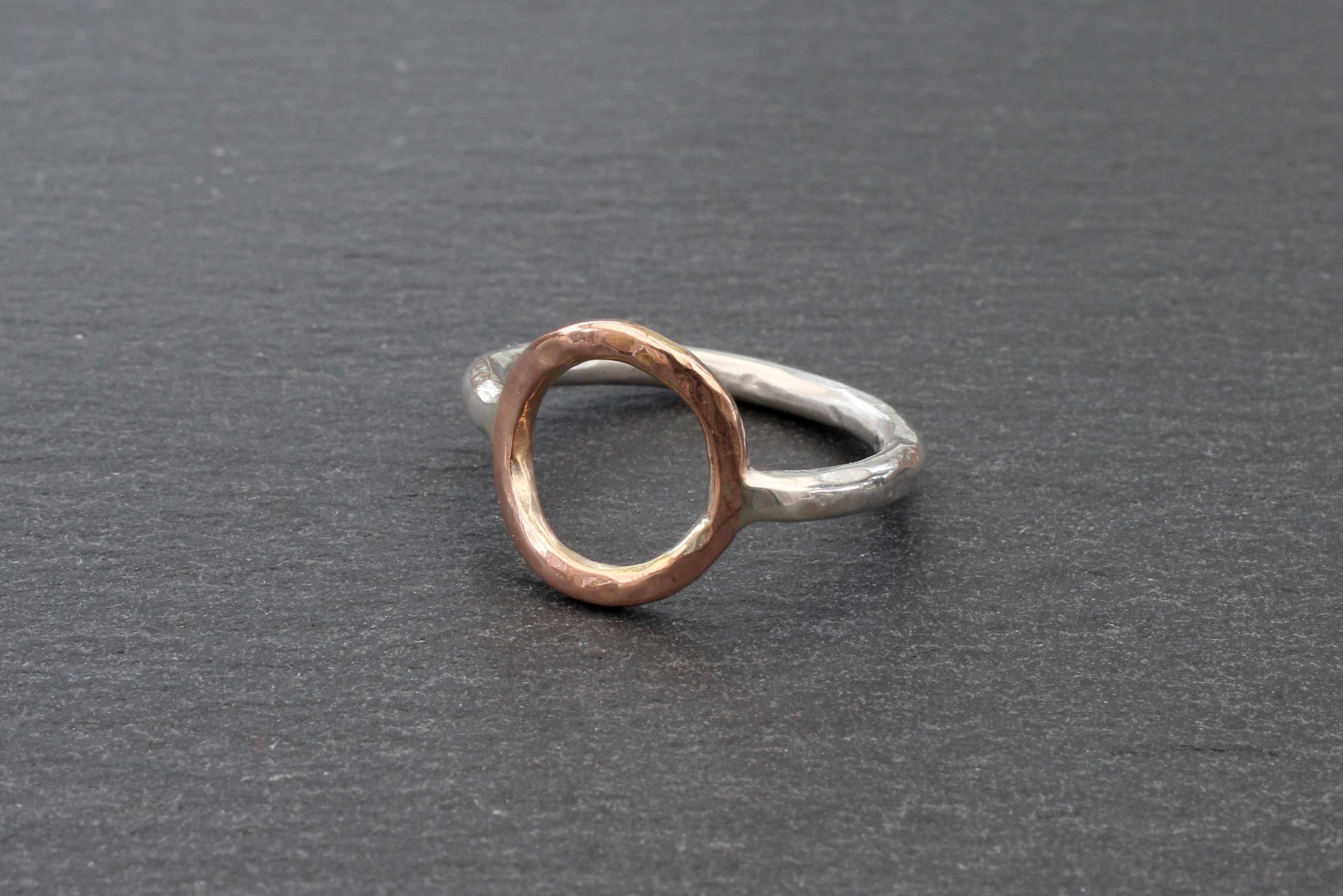 Circle Ring (9ct Rose and Silver)