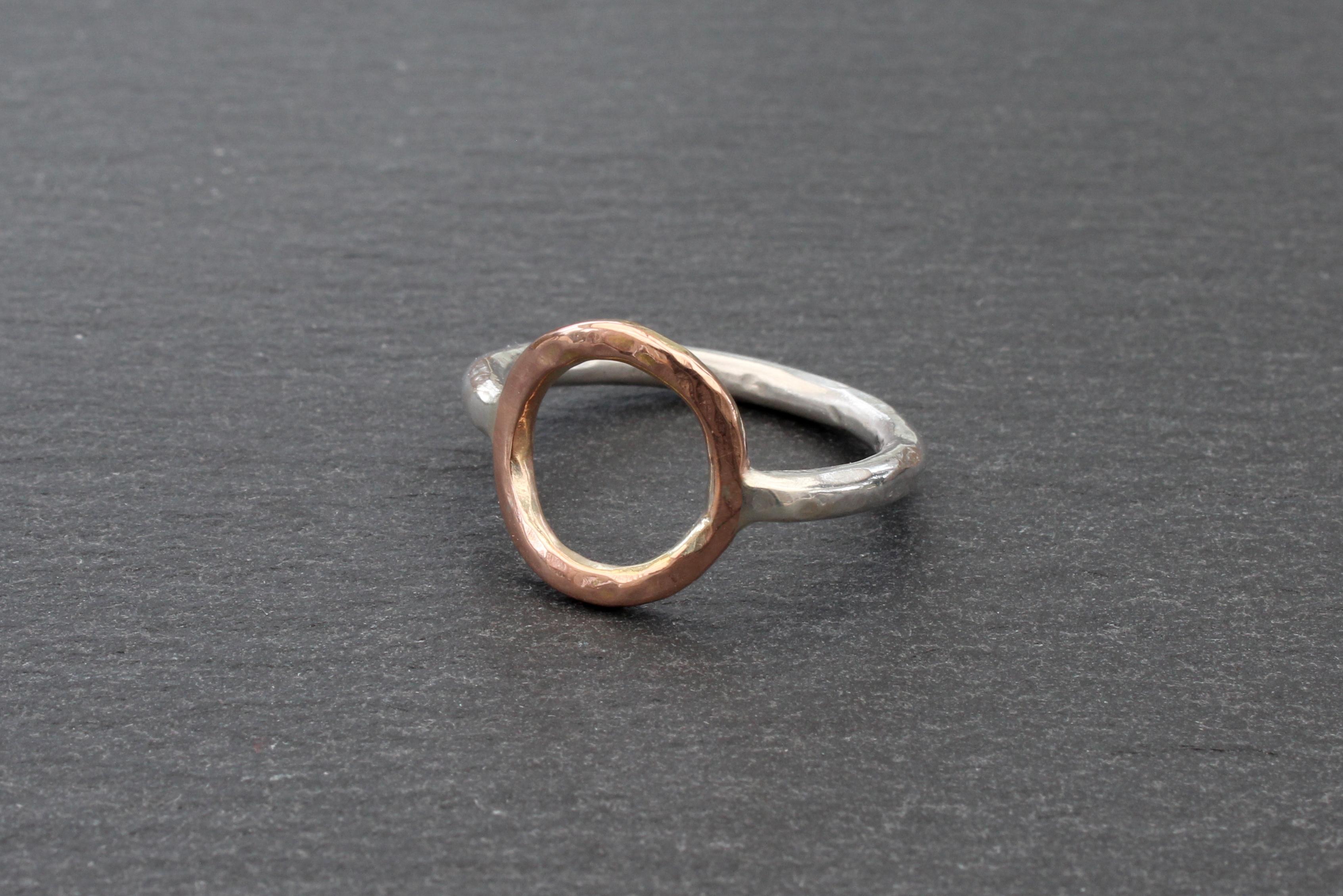 Circle Ring (9ct Rose and Silver)
