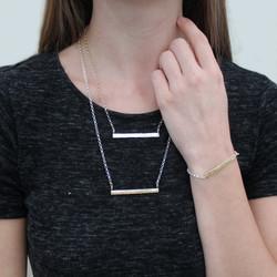 9ct & silver necklace & bracelet