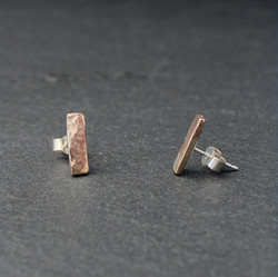 Bar Earrings (9ct Yellow and Silver)