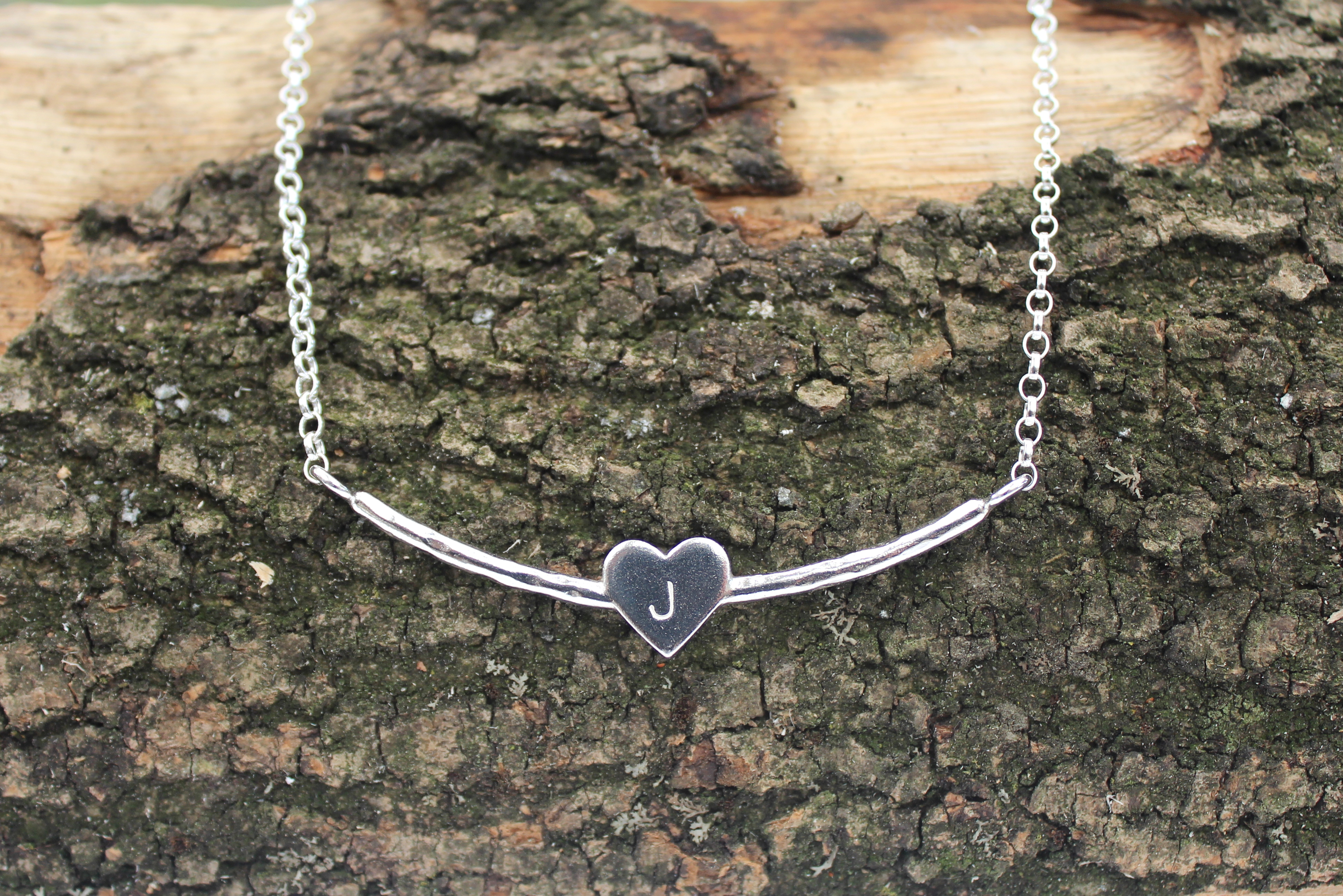 Heart Necklace with an Initial
