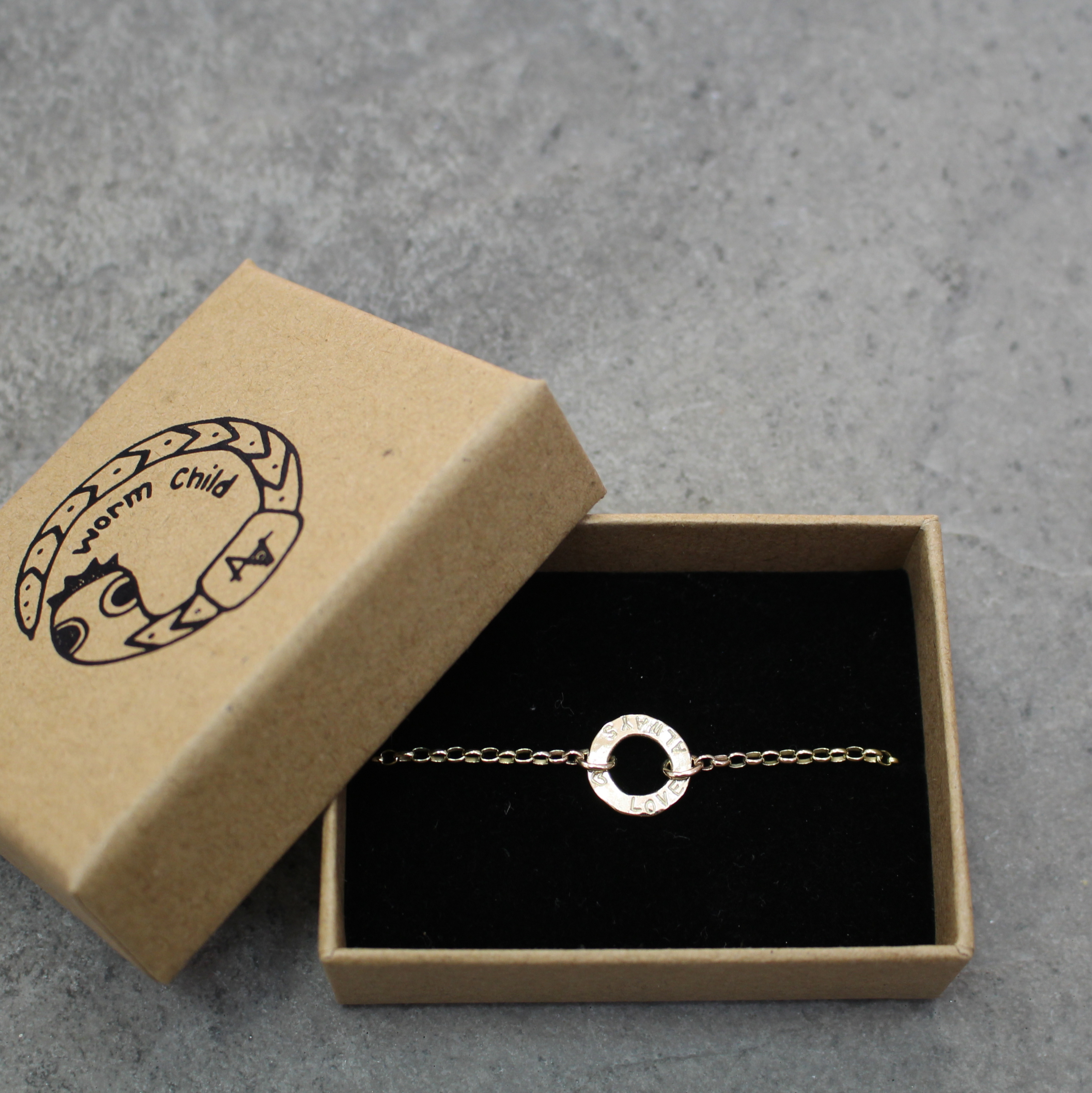 Gold Little Disc Bracelet